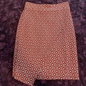 Anthropologie Maeve asymmetrical skirt XS petite